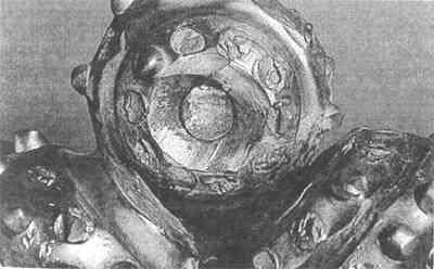 Сработка внутренних венцов шарошек